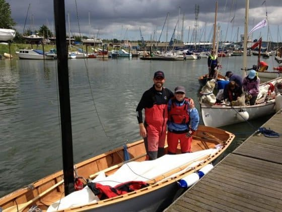 Goat Island Skiff in English RAID row and sail event.