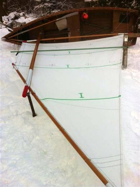inexpensive sails for Goat Island Skiff