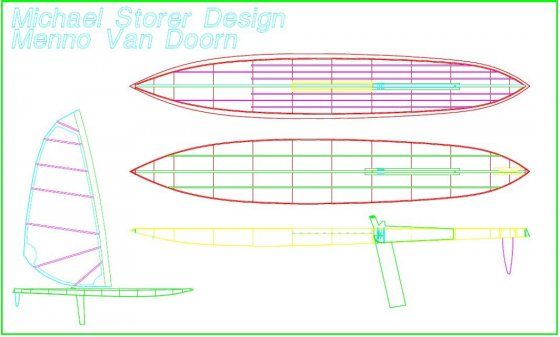 12kg raceboard from 1993. lightweight simple plywood SUP - stand up Paddleboard - storerboatplans.com
