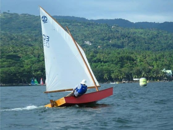 Oz Goose sail boat race fleet on Taal Lake.. There is a second fleet in Cebu. - storer boat plans