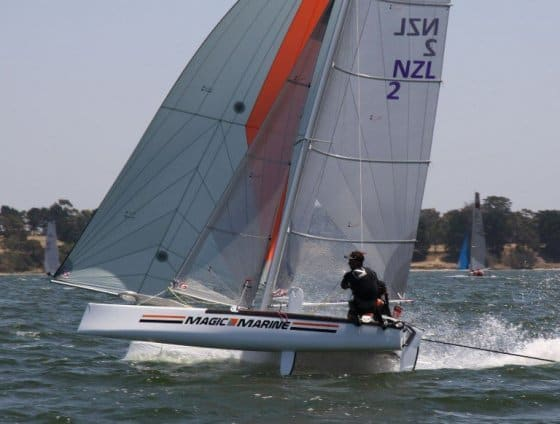 lightweighting wooden performance skiffs and catamarans with Paulownia timber. storerboatplans.com