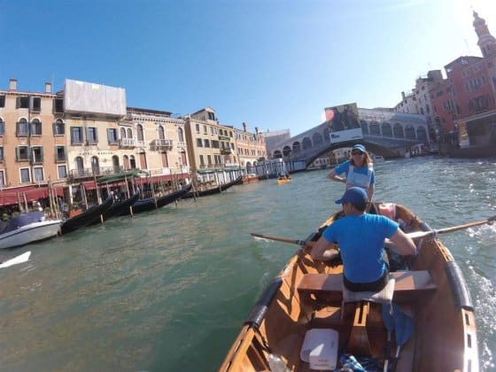 Rowing through Venice. Enrico Franconi and Family. storerboatplans.com