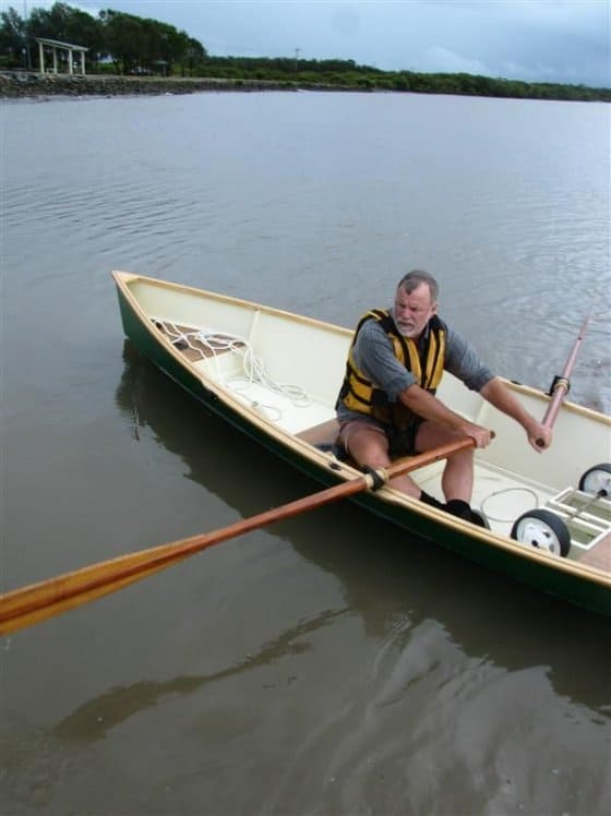 MSD rowboat. Plywood home built. storerboatplans.com