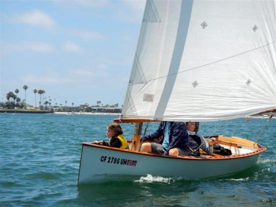 Goat Island Skiff - Armstrong Family Sailing San Diego - storerboatplans.com