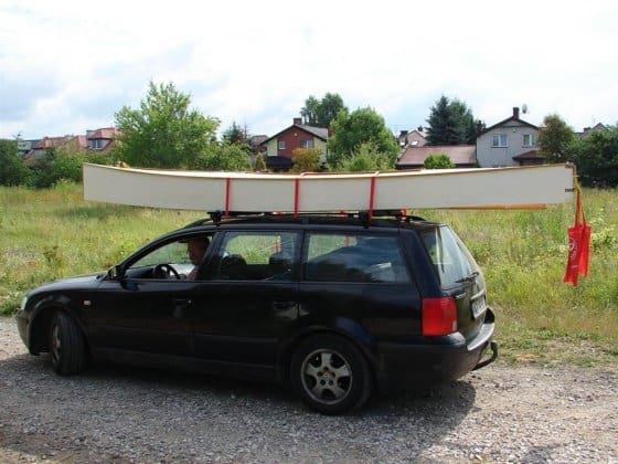 Robert Hoffman's Beth in Poland. Seventy pounds is not much for a compact car. storerboatplans.com
