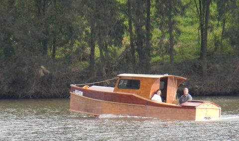 23ft Dayboat Launch on Hawkesbury River. Planing!? storerboatplans.com