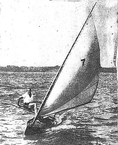 Leaning plank for a Beth Sailing canoe is a bad idea. storerboatplans.com