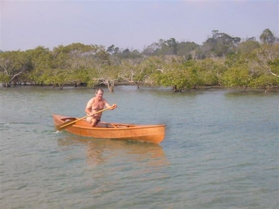 Eureka light ply canoe built by Peter McKenzie, Burrum heads, Hervey Bay, Sunshine Coast Queensland: Storerboatplans.com